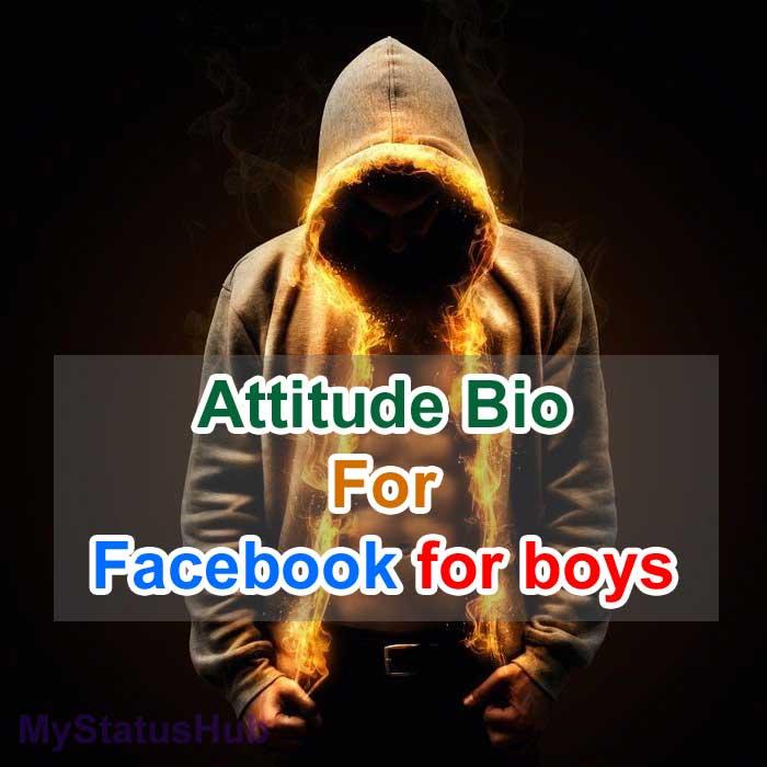 Attitude Bio for Facebook for boys