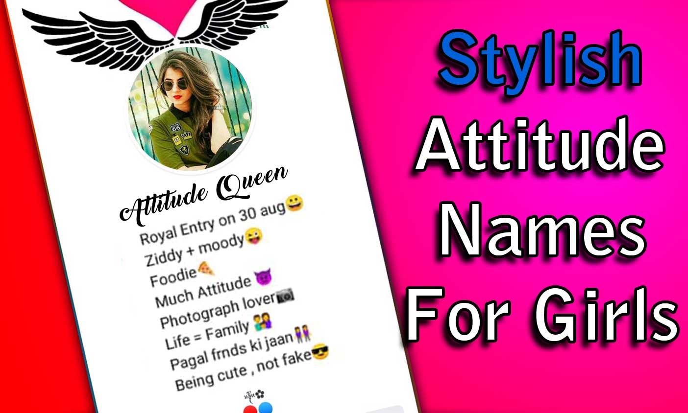Stylish attitude names for girls