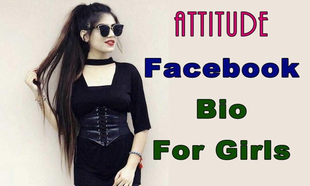 titude Facebook Bio For Girls